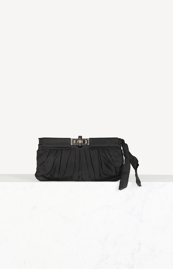 Canvas Clutch in Schwarz