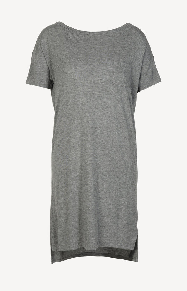 T-shirt dress in gray melange