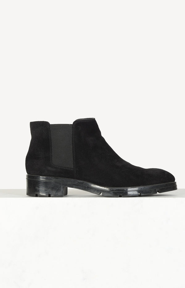 Chelsea boots in suede / black