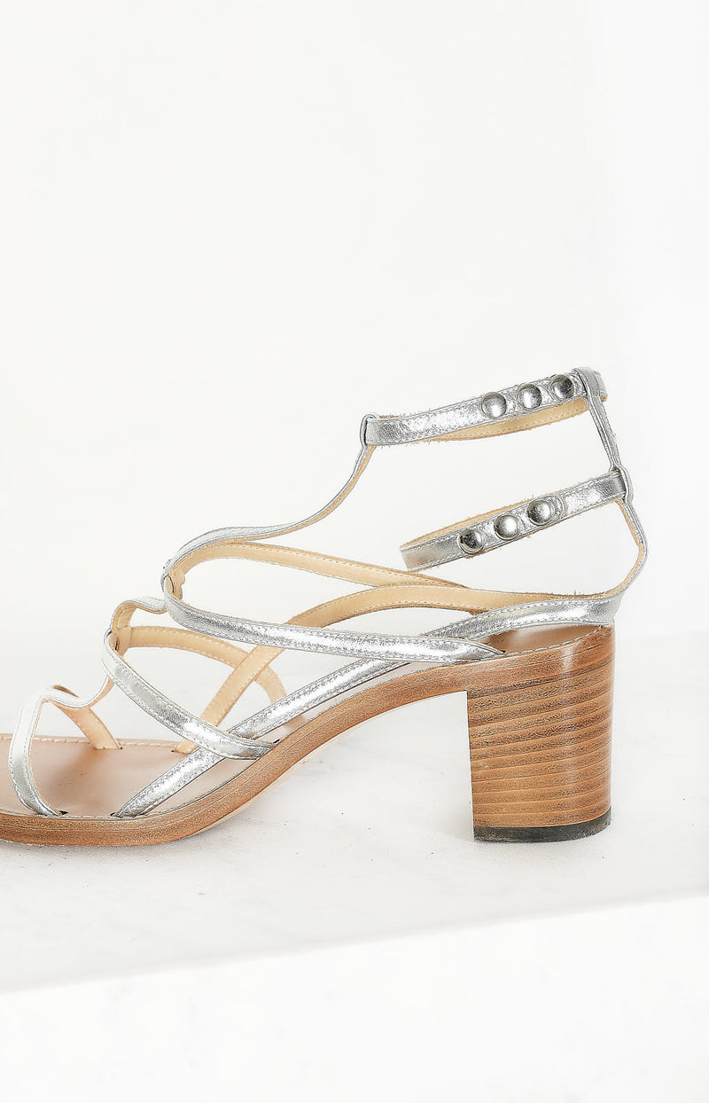 Shiny Bridal Strap sandals