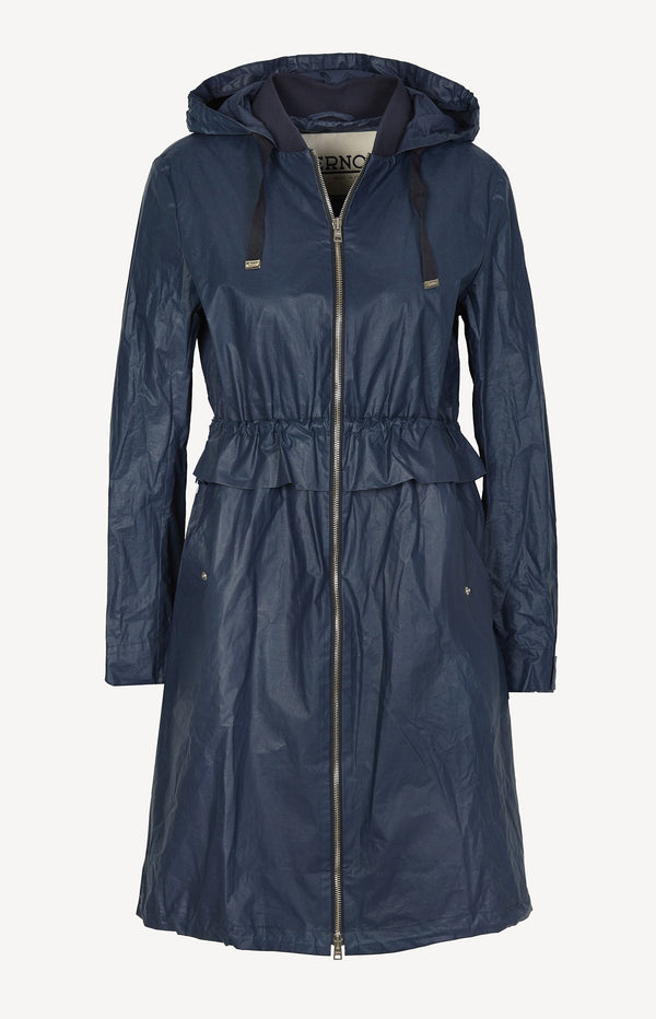 Transitional coat in navy