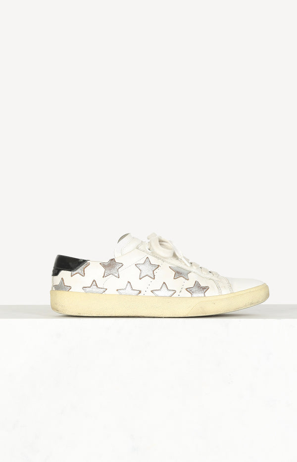 Wolly Stars sneaker in white