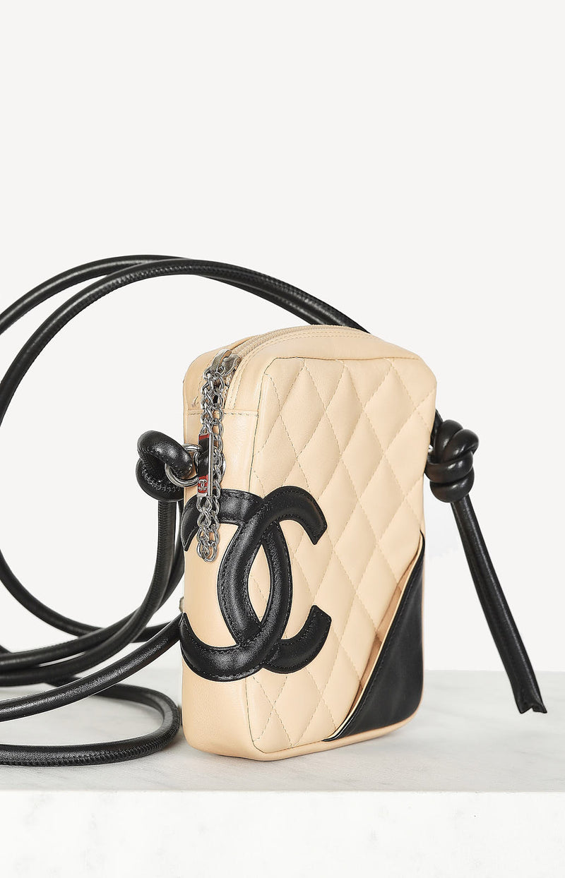 Cambon bag in nude / black