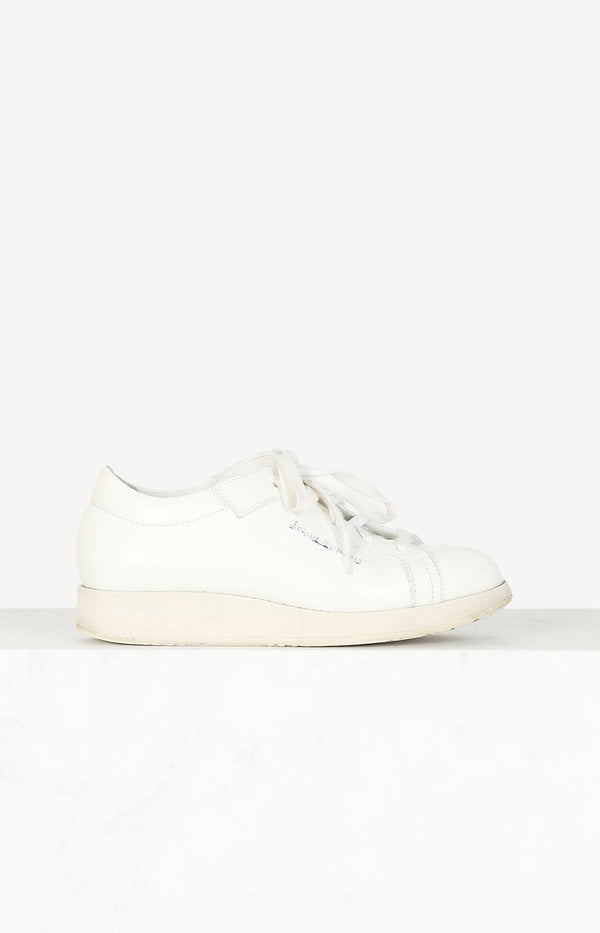 Platform sneakers in white