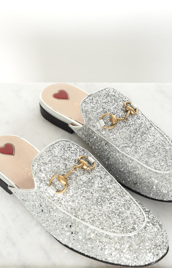 Slipper Princeton in Silber