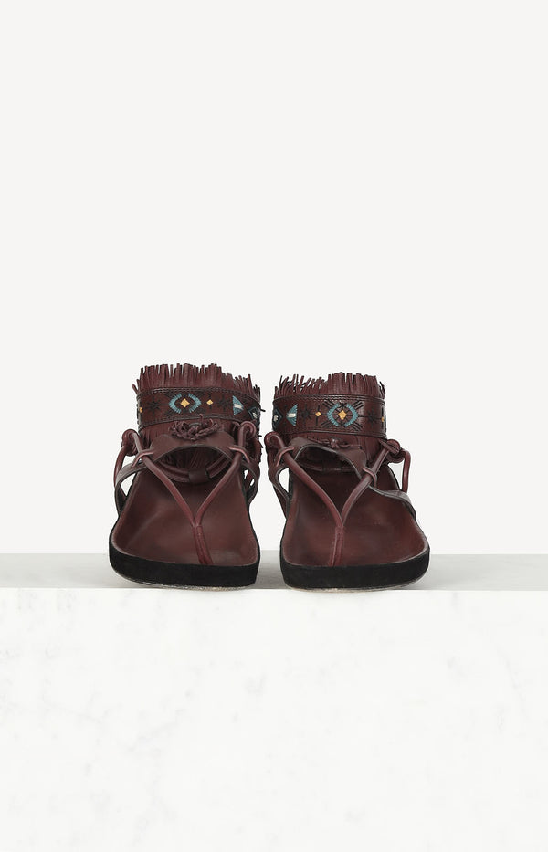 Eliby sandals in claret