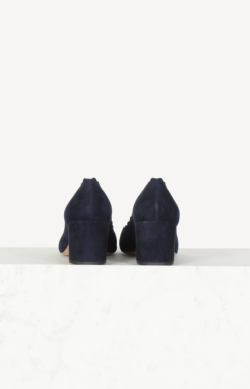 Suede Pumps in Dunkelblau