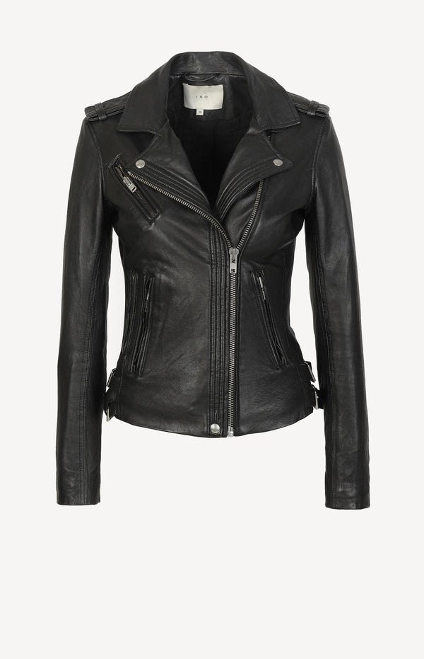 Han leather jacket in black