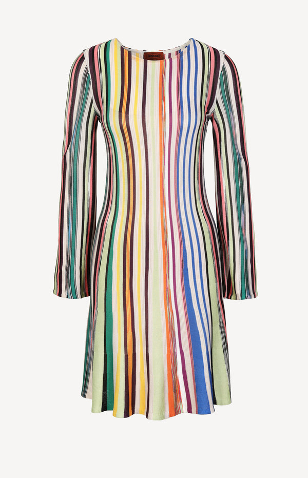 Mini dress with stripes in multi