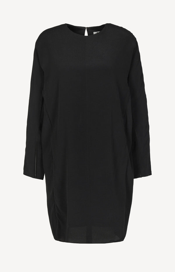 Midi dress with cut-outs in black