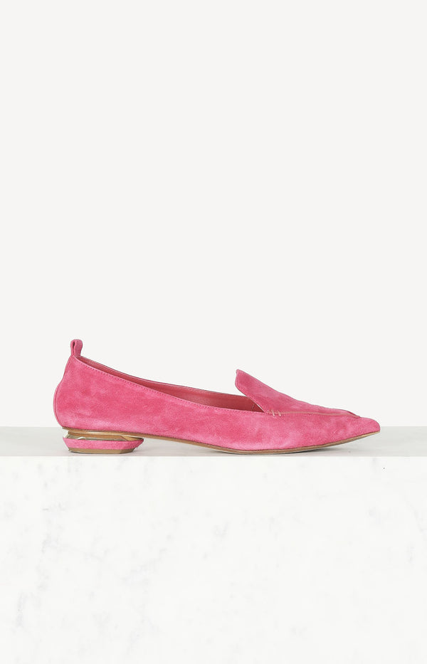 Ballerinas aus Wildleder in Pink