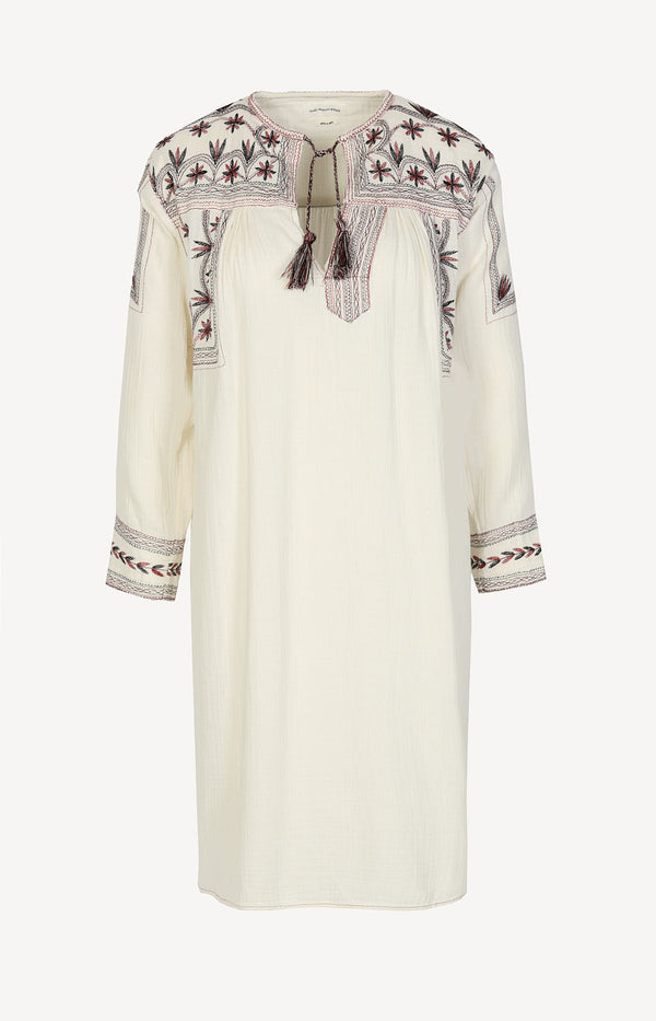 Lockeres Boho-Kleid in Beige