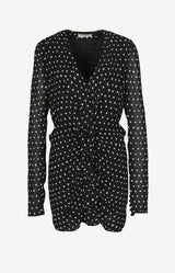 Mini dress with dots in black and white