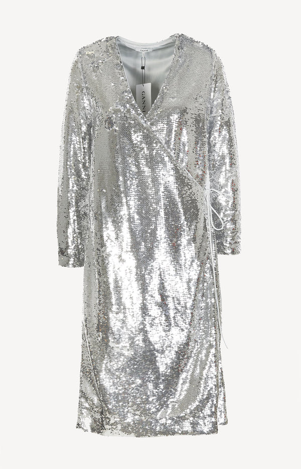 Sequin dress in silver