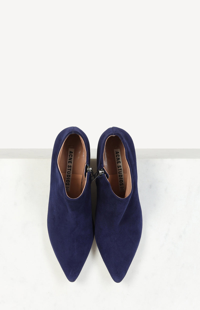 Ankle Boots in Suede Navy Blue