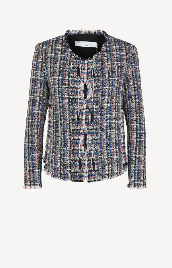 Frannie tweed blazer in multi