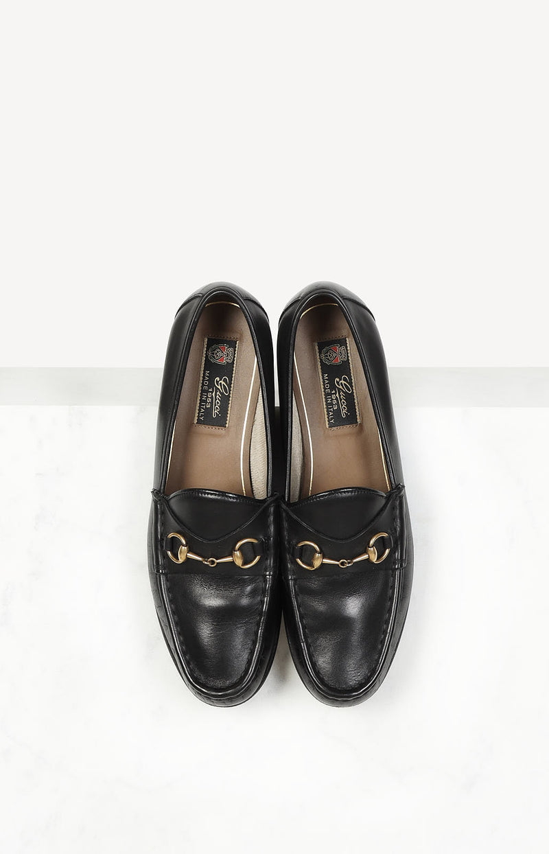 Loafer Horsebit in Schwarz/Gold