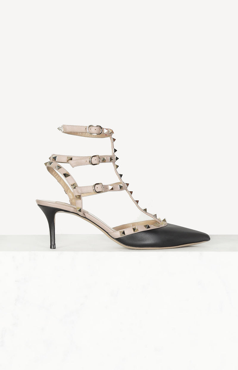 Pumps Rockstud Strap in Schwarz