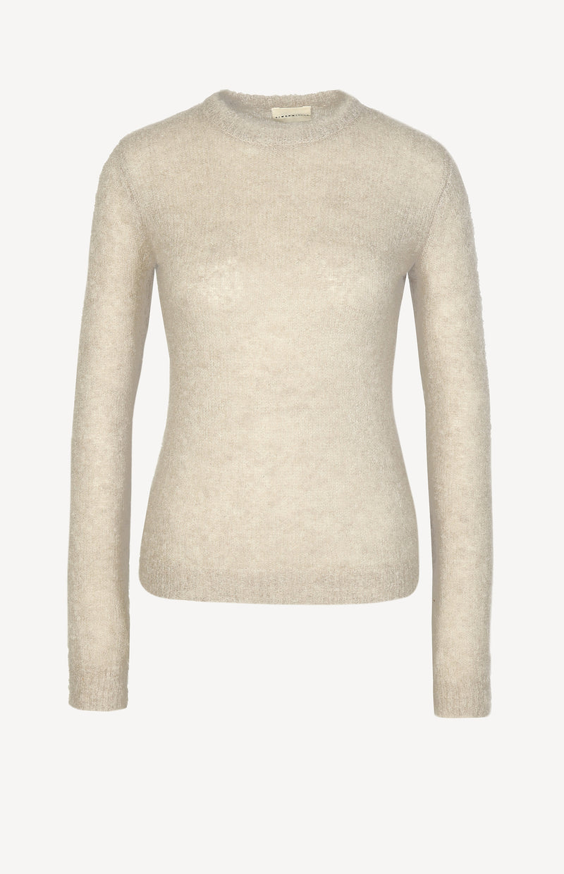 Mohairpullover in Taupe