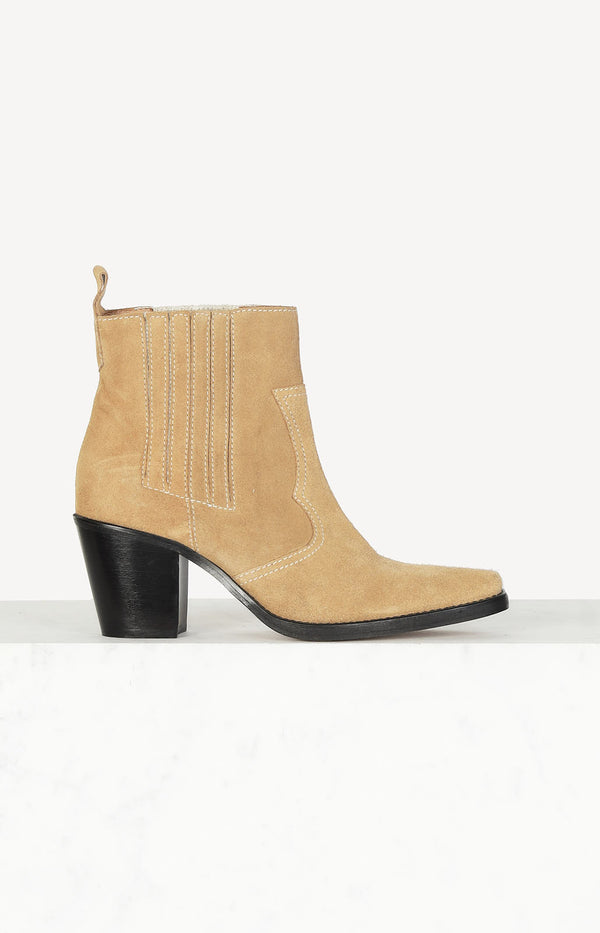 Boots Callie in Suede Camel