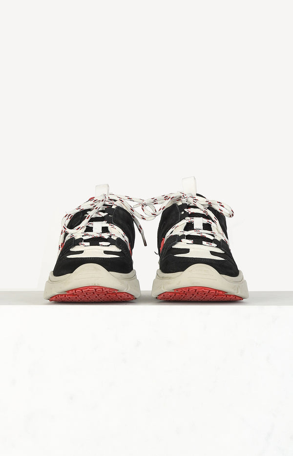 Kindsay sneaker in black / white / red