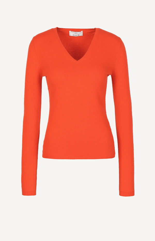Kaschmirpullover in Orange