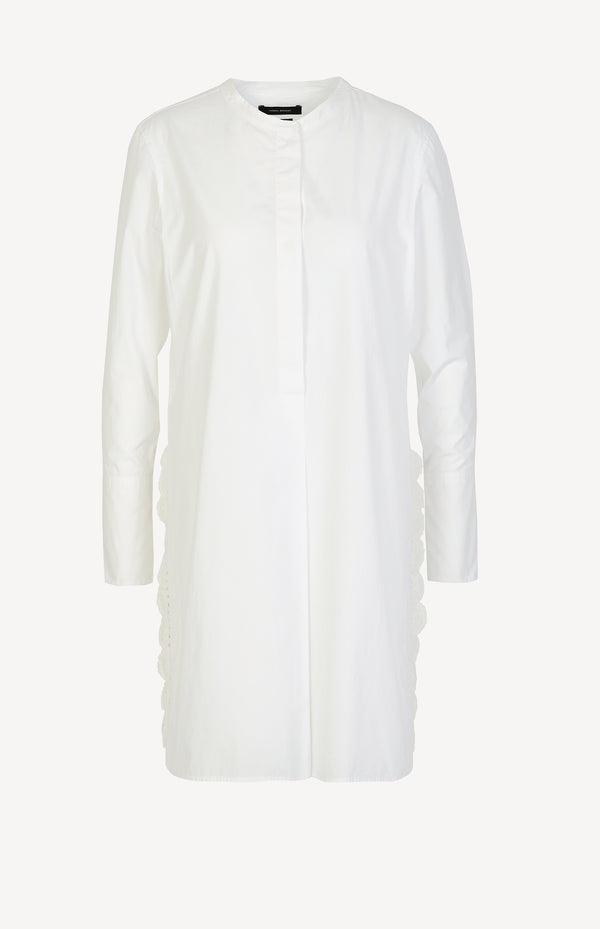 Tunic blouse in white