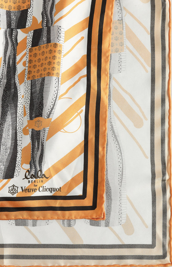 Silk scarf 'for Veuve Cliquot'