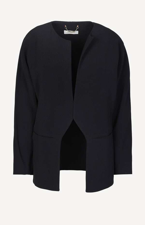 Open blazer in dark navy