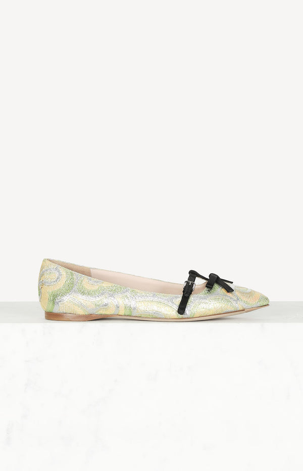 Ballerinas in Metallic-Optik