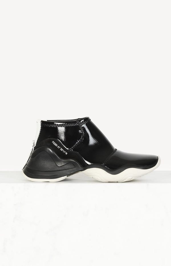 FFluid Glossy sneakers in black