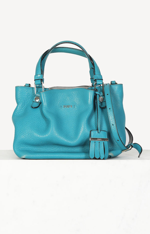 Flower Bag in turquoise