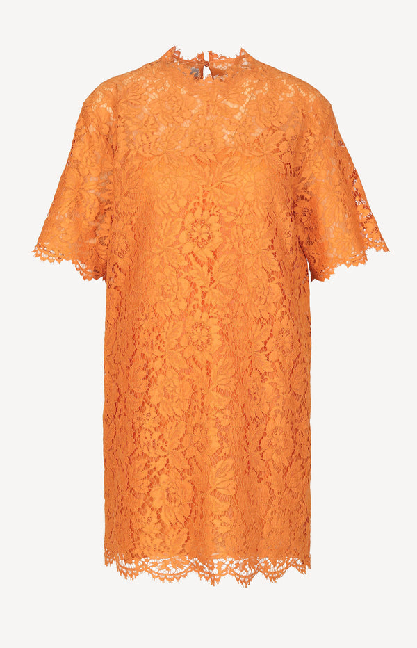 Spitzenkleid in Orange