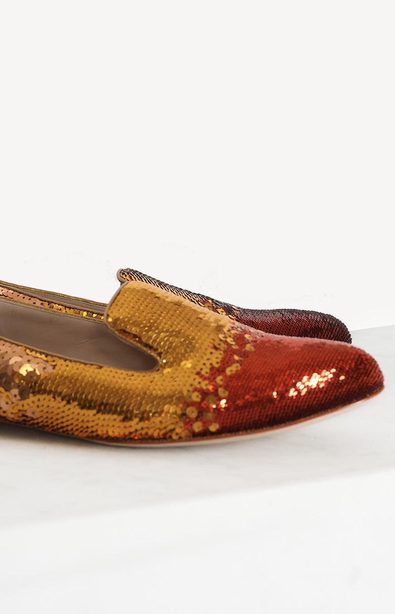 Loafer mit Pailletten