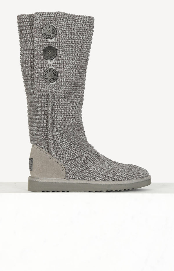 Strickstiefel Cardy in Grau