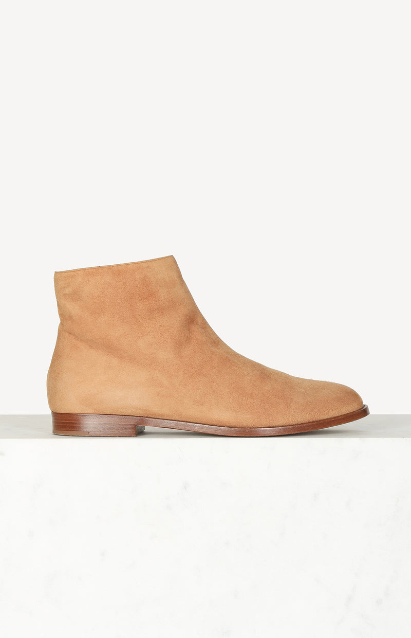 Boots mit Fellfutter in Camel