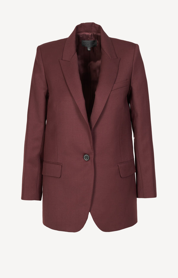 Blazer in burgundy