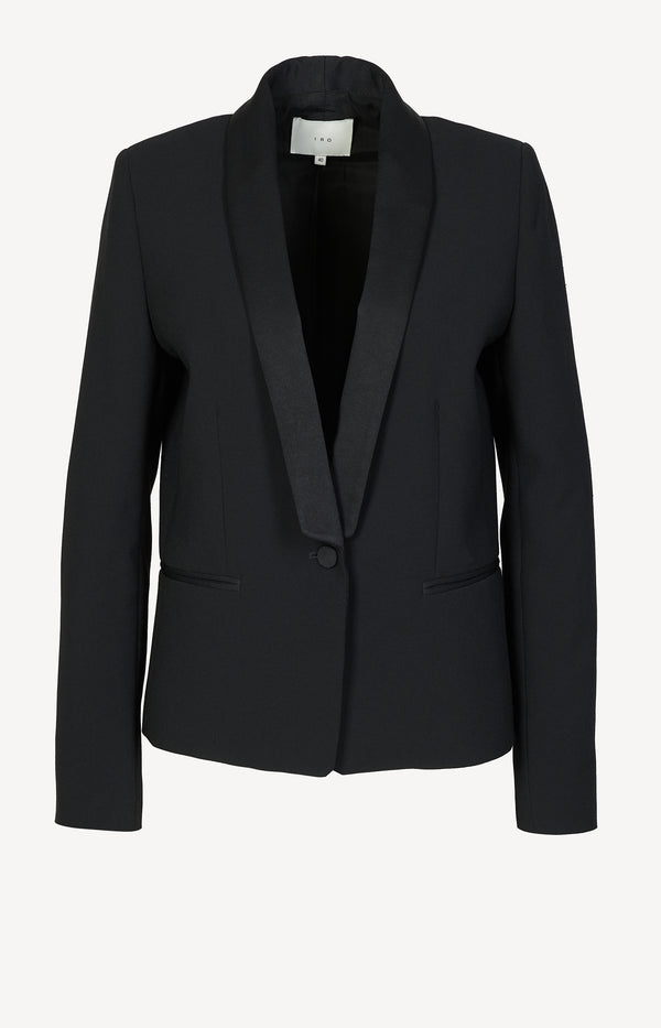 Blazer Odder with satin lapel in black