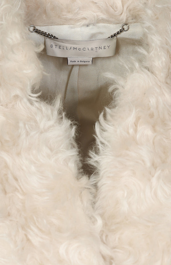 Bryce mohair coat in ivory