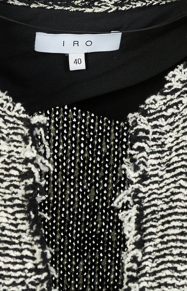 Azure knitted blazer in black and white
