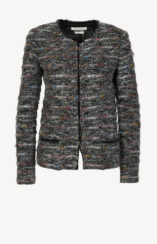 Knit blazer Lamé in black / multi