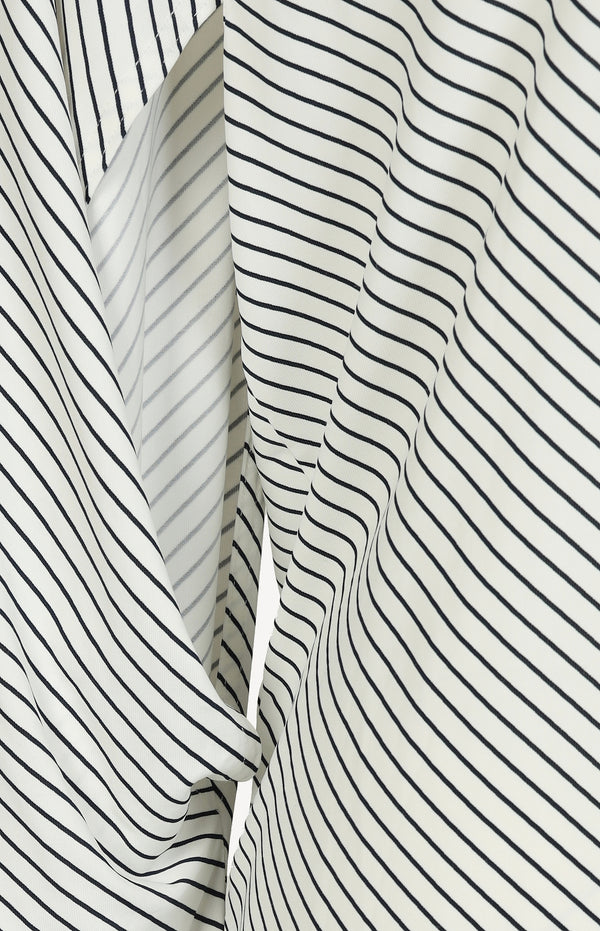 Shirt with cut-outs in black and white