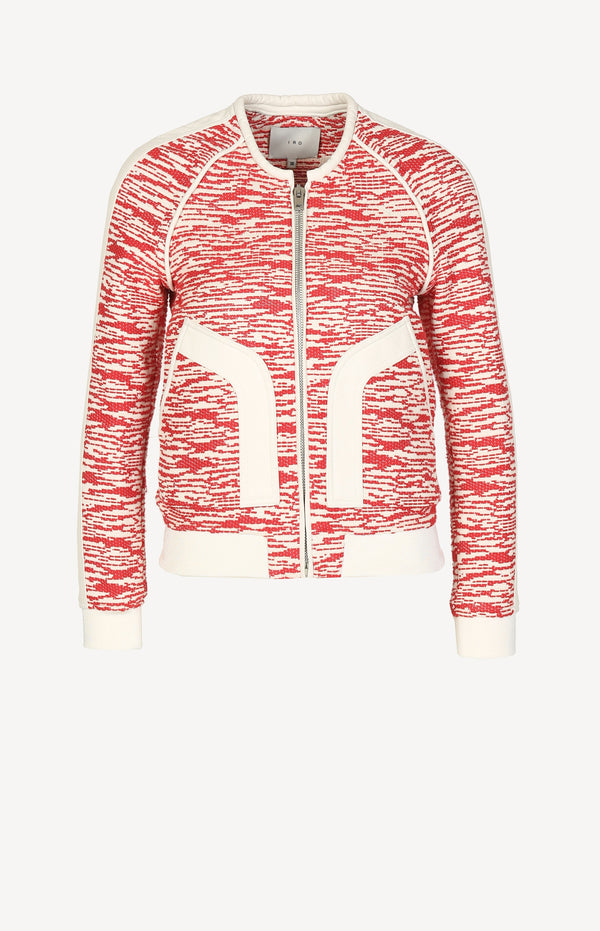 Kenta jacket in red / white