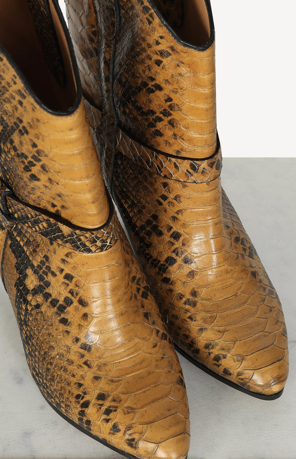 Boots Exotic Colorado in cognac / black