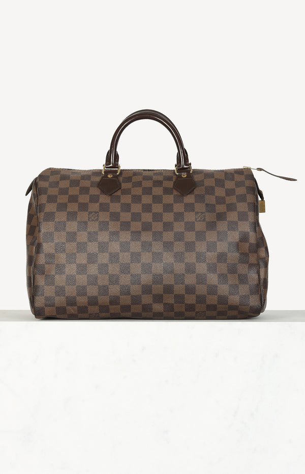 Speedy 35 bag in Damier brown