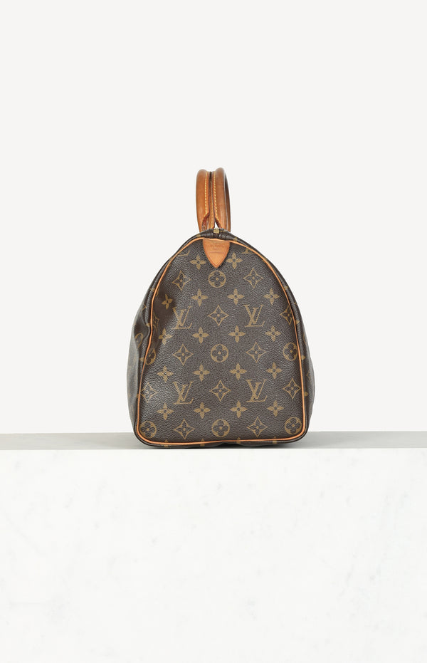 Speedy 35 bag in monogram brown