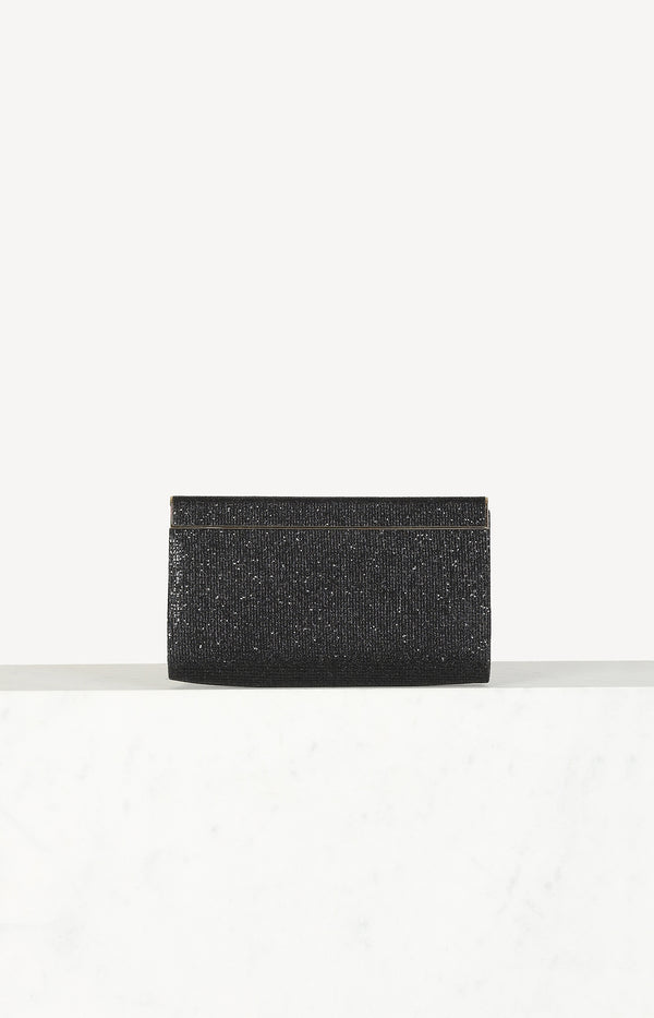 Small clutch in black / gold