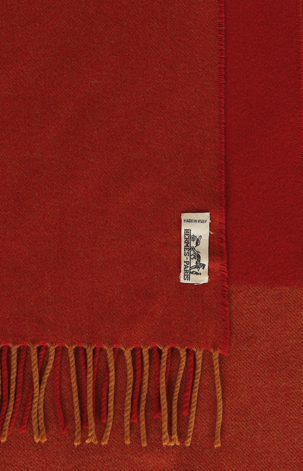 Scarf in red / ocher