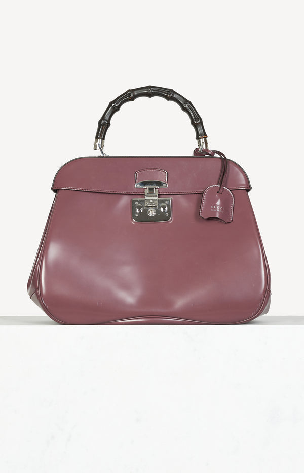 Handtasche Lady Lock Bamboo in Mauve