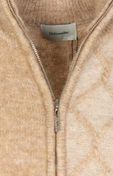 Cardigan Tine Cable in Beige/Camel